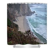 Cliffs And Surf On The California Coast Shower Curtain