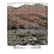 Cliffs At Joggins Nova Scotia Shower Curtain