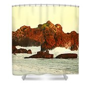 Cliffs In The Warm Evening Light Shower Curtain