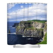 Cliffs Of Moher, Co Clare, Ireland Shower Curtain