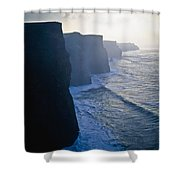 Cliffs Of Moher,co Clare,irelandview Of Shower Curtain