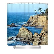 Cliffside Oceanview Shower Curtain
