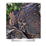 Climbing Rocks And Trees Shower Curtain