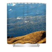Climbing Skyward Shower Curtain by Will Borden