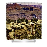 Climbing The Grand Canyon Shower Curtain