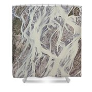 Cline River Showing Heavy Siltation Shower Curtain
