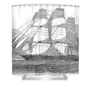 Clipper Ship, 1850 Shower Curtain
