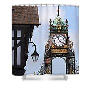 Clock In Chester Shower Curtain