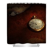 Clock - Time Waits For Nothing  Shower Curtain