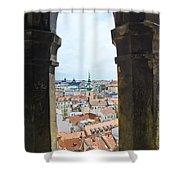 Clock Tower View - Prague Shower Curtain