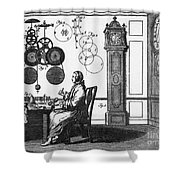 Clockmaker Shower Curtain by Science Source