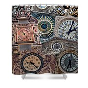 Clocks Of Paris Shower Curtain
