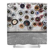 Clocks On The Wall Shower Curtain by Setsiri Silapasuwanchai