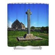 Cloncra Church, Inishowen Peninsula Shower Curtain