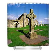Clonmacnoise, Co Offaly, Ireland High Shower Curtain