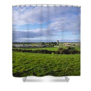 Clonmacnoise, Co Offaly, Ireland Shower Curtain