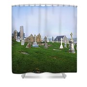 Clonmacnoise Monastery, County Offaly Shower Curtain