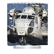 Close-up Of A Ch-53 Sea Stallion Shower Curtain