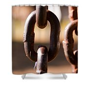 Close Up Of A Chain Link Shower Curtain