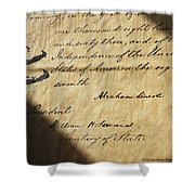 Close-up Of Emancipation Proclamation Shower Curtain