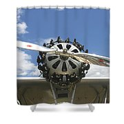 Close-up Of Engine On Antique Seaplane Canvas Poster Print Shower Curtain