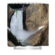 Close Up Of Lower Falls Shower Curtain