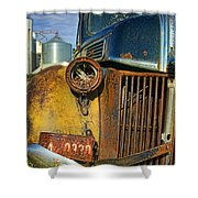 Close Up Of Rusty Truck Shower Curtain