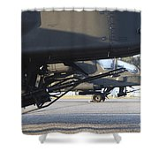 Close-up View Of The M230 Chain Gun Shower Curtain