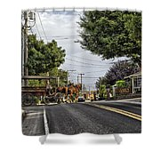 Closed On Sundays - Amish Country Shower Curtain