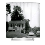 Clothesline On The Porch Shower Curtain
