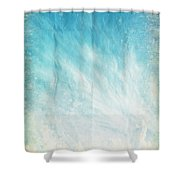 Cloud And Blue Sky On Old Grunge Paper Shower Curtain