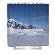 Cloud-covered Bowl Of The Upper Hubbard Glacier Shower Curtain
