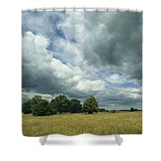 Cloud-filled Sky Over A Cluster Shower Curtain