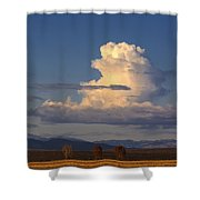 Cloud Over San Luis Valley Shower Curtain