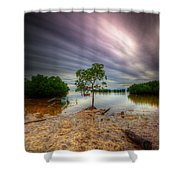 Cloud Zoom 3.0 Shower Curtain
