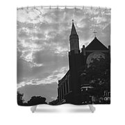 Clouded Places Shower Curtain