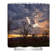 Clouded Sunset Shower Curtain