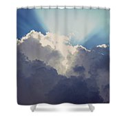 Clouds-6 Shower Curtain