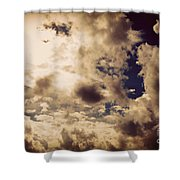 Clouds-8 Shower Curtain