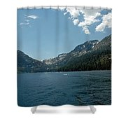 Clouds Above Emerald Bay Shower Curtain