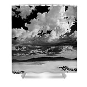 Clouds Above White Sands Shower Curtain