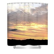 Clouds Afire Shower Curtain