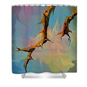 Clouds And Branches Of Life Shower Curtain