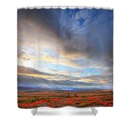 Clouds At Sunrise At The Arctic Circle Shower Curtain