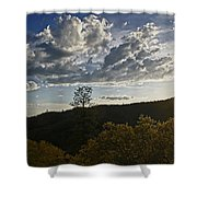 Clouds At Sunset II Shower Curtain