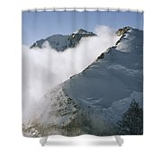 Clouds Drif Through Peaks Of The Queen Shower Curtain