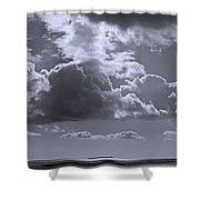 Clouds Gathering Shower Curtain
