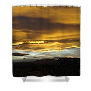 Clouds Illuminated At Sunset Shower Curtain