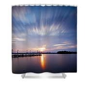 Clouds In Motion Shower Curtain