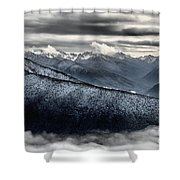 Clouds In The Valley Shower Curtain